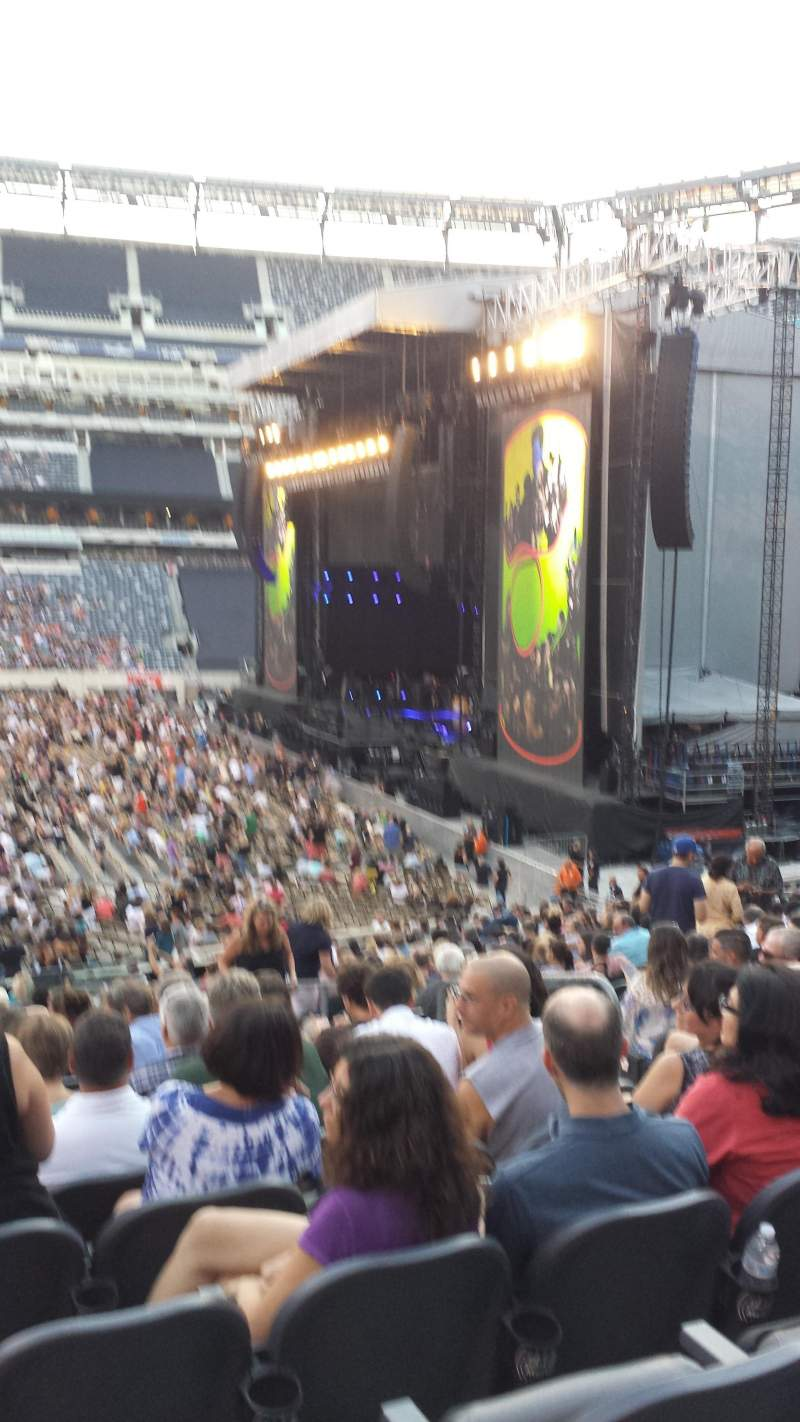 Seating view for MetLife Stadium Section 112 Row 25 Seat 6