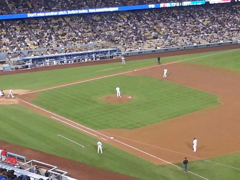 Seating view for Dodger Stadium Section 38RS Row AA Seat 21