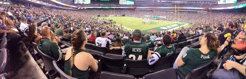 Seating view for MetLife Stadium Section 131 Row 28 Seat 11