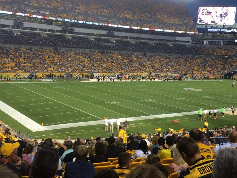 Seating view for Heinz Field Section 105 Row BB Seat 11
