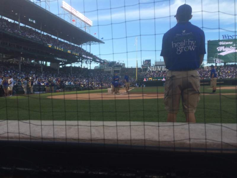 Seating view for Wrigley Field Section DBX26 Row A