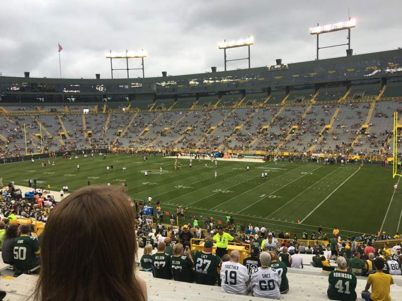 Seating view for Lambeau Field Section 130 Row 48 Seat 11