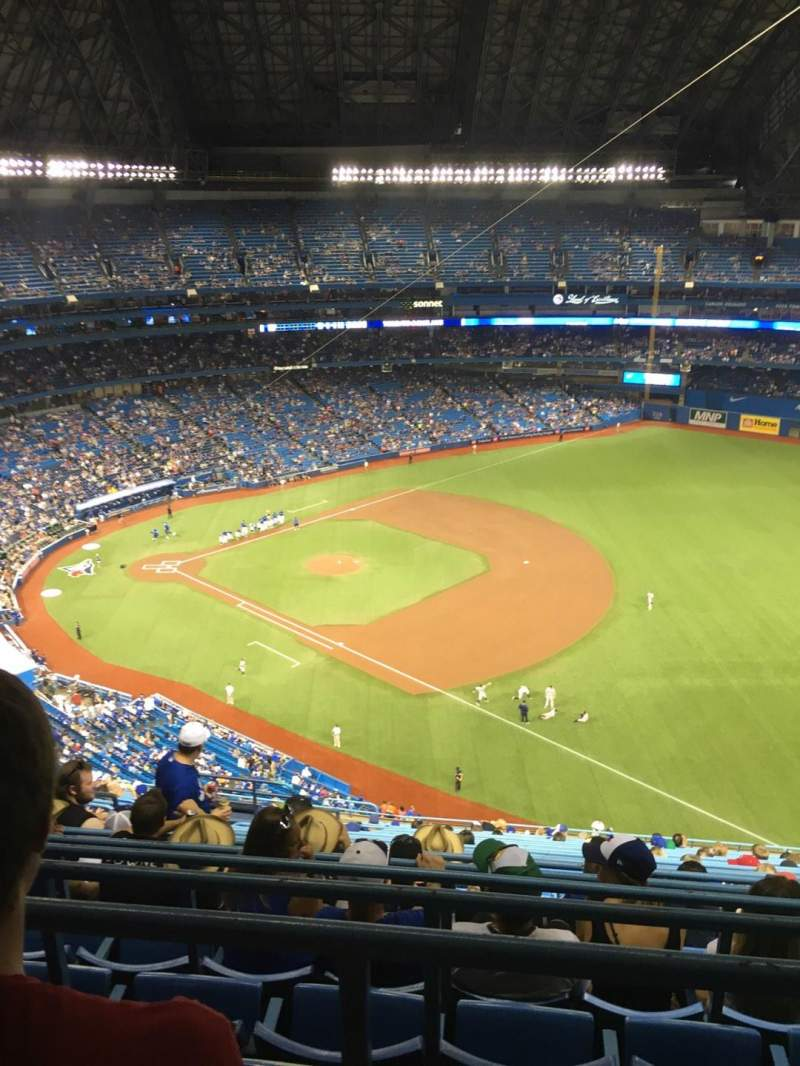 Seating view for Rogers Centre Section 214R Row 21 Seat 7