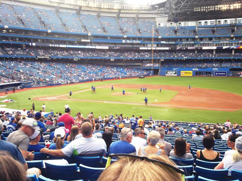 Seating view for Rogers Centre Section 116R Row 39 Seat 8