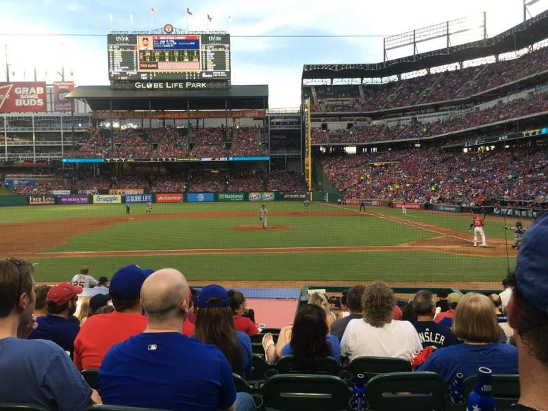 Seating view for Globe Life Park in Arlington Section 20 Row 11 Seat 11
