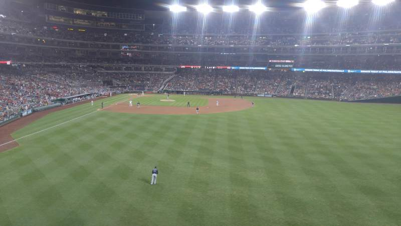 Seating view for Nationals Park Section 239 Row A Seat 5