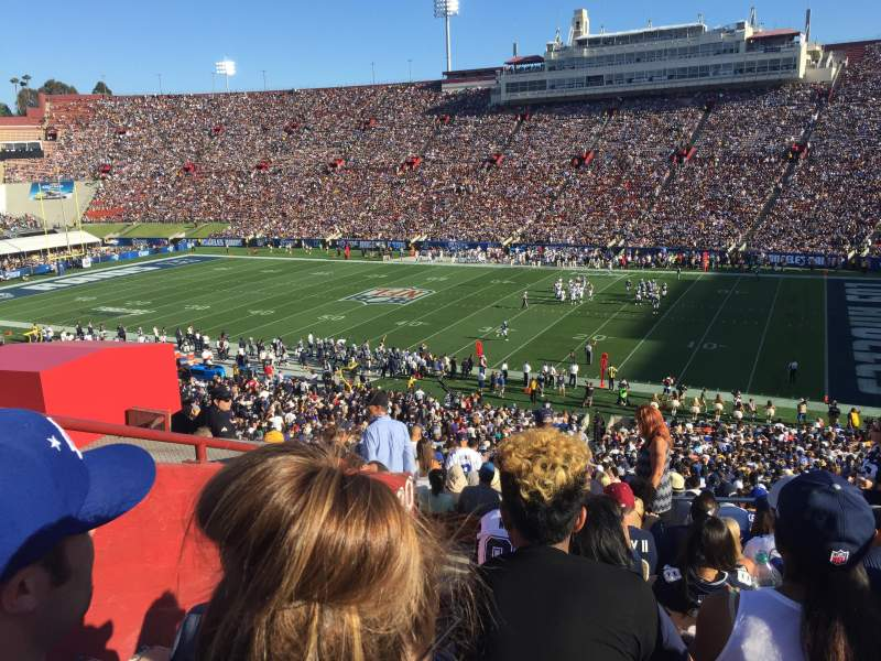 Seating view for Los Angeles Memorial Coliseum Section 20H Row 52 Seat 106
