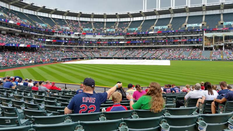 Seating view for Progressive Field Section 107 Row P Seat 4