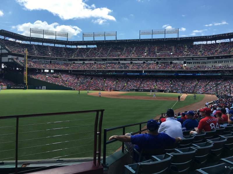 Seating view for Globe Life Park in Arlington Section 9 Row 3 Seat 18