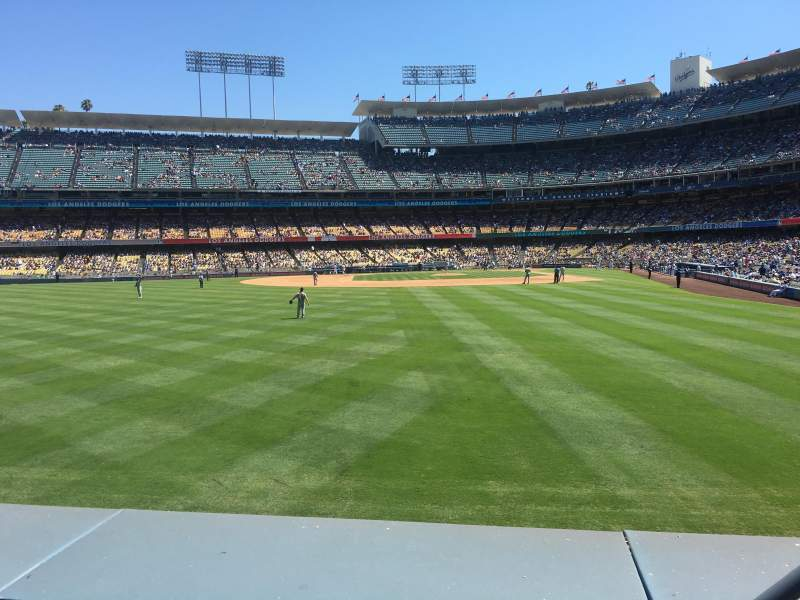Seating view for Dodger Stadium Section 303 Row A Seat 3