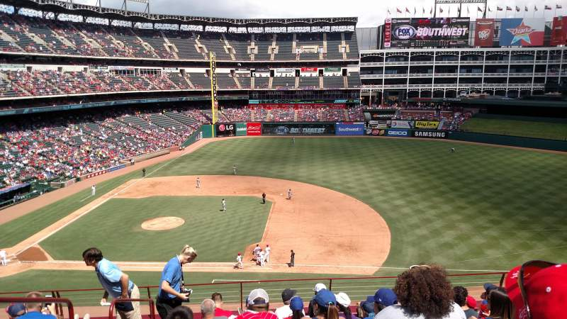 Seating view for Globe Life Park in Arlington Section 234 Row 8 Seat 2