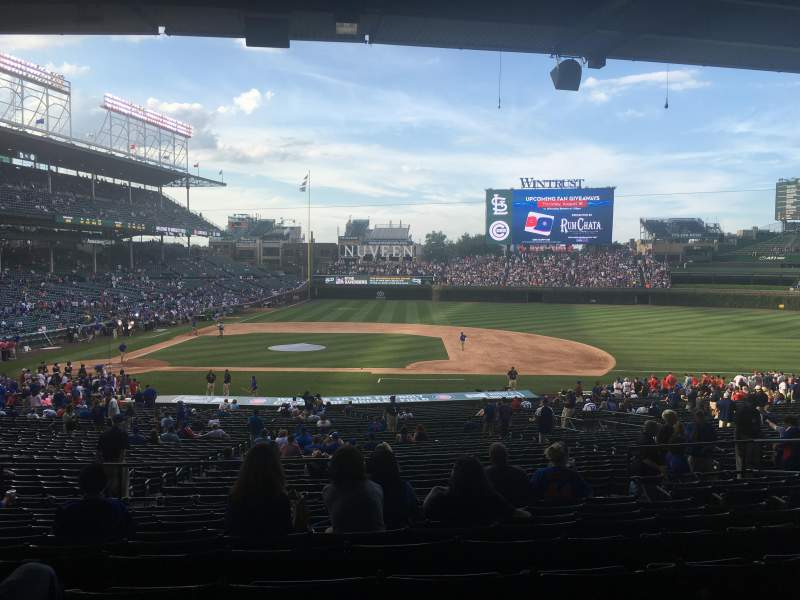 Seating view for Wrigley Field Section 229 Row 11 Seat 108