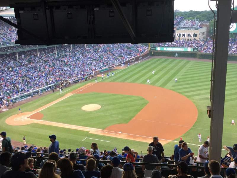 Seating view for Wrigley Field Section 532 Row 9 Seat 105