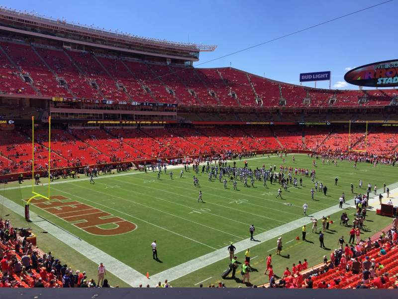 Seating view for Arrowhead Stadium Section 208 Row 1 Seat 8