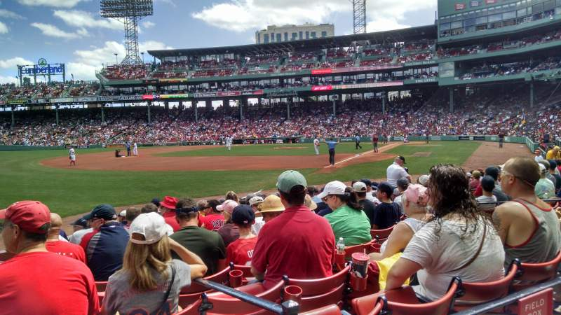Seating view for Fenway Park Section Loge Box 162 Row BB Seat 1