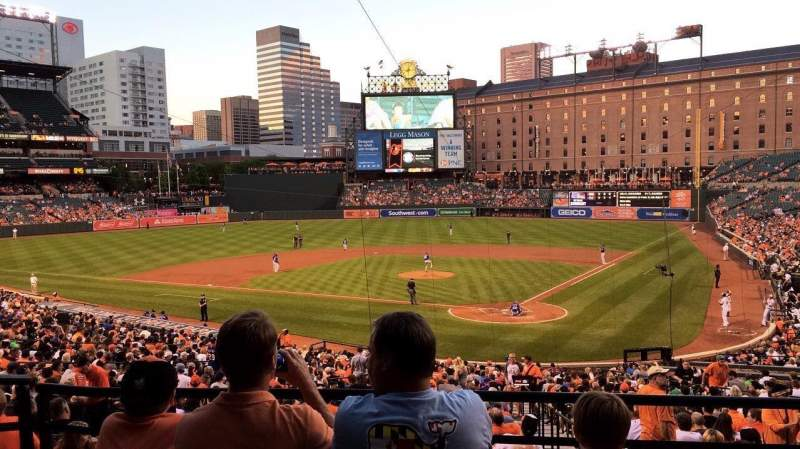 Seating view for Oriole Park at Camden Yards Section 39 Row 4 Seat 10