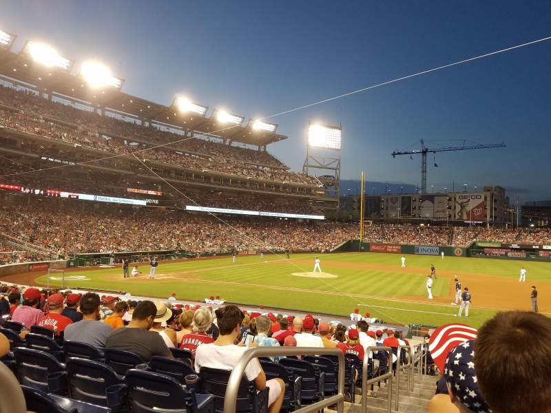 Seating view for Nationals Park Section 130 Row Z Seat 18