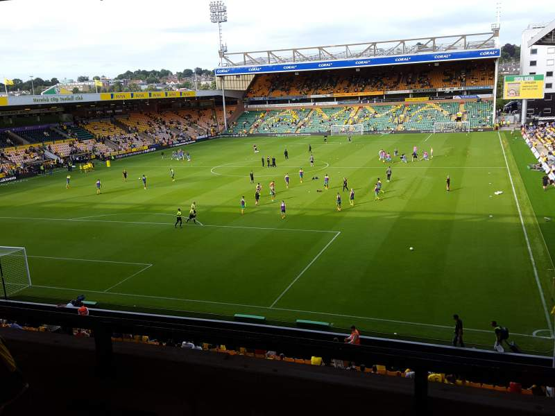 Seating view for Carrow Road Section Norwich & Peterborough area Row C Seat 5