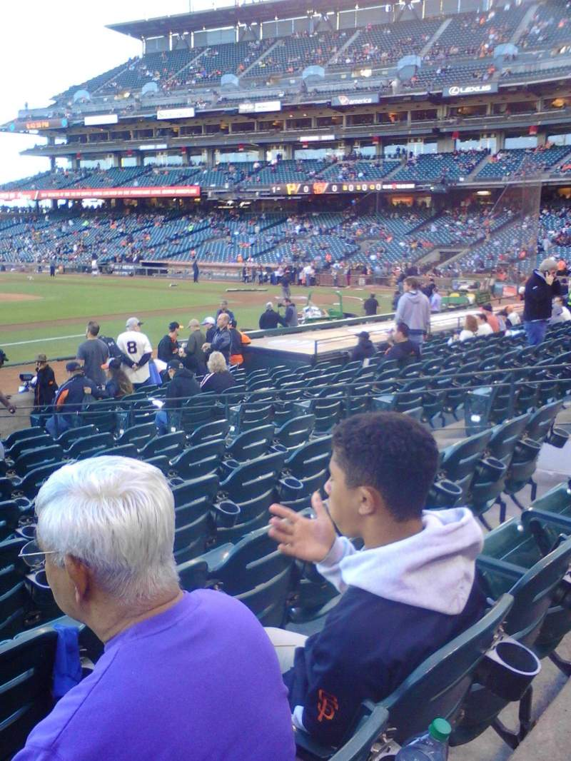 Seating view for AT&T Park Section 125 Row 14 Seat 10
