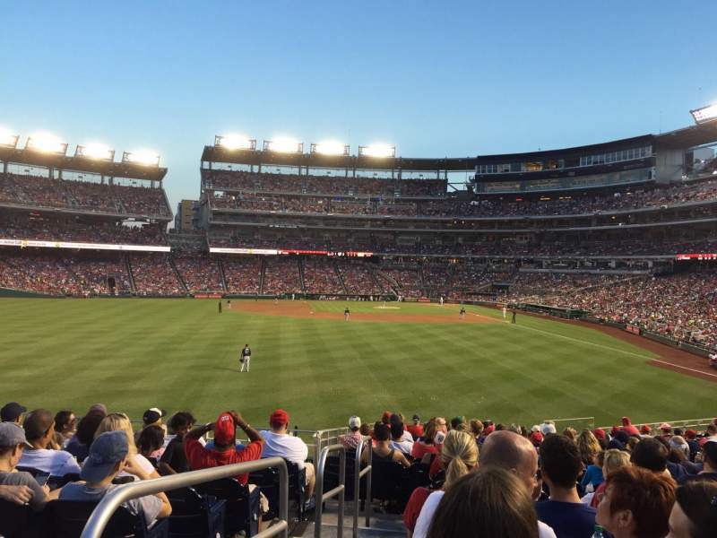 Seating view for Nationals Park Section 103 Row V Seat 1