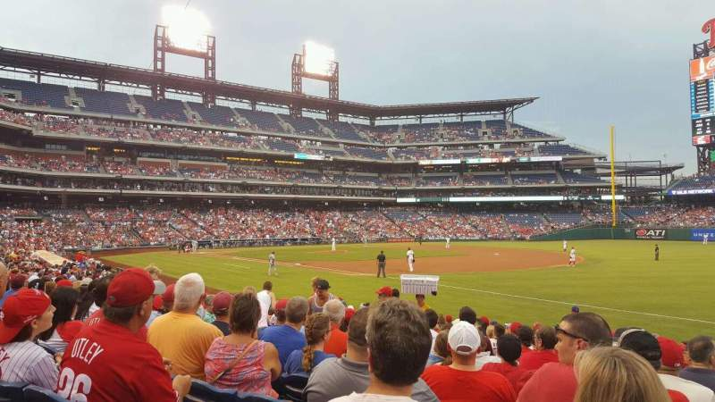 Seating view for Citizens Bank Park Section 111 Row 19 Seat 8