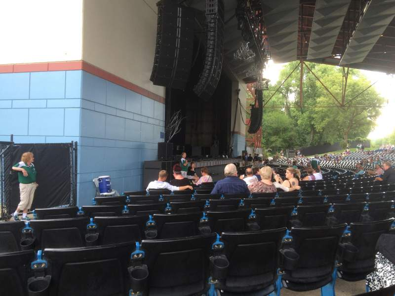 Seating view for Riverbend Music Center Section 100 Row K Seat 135