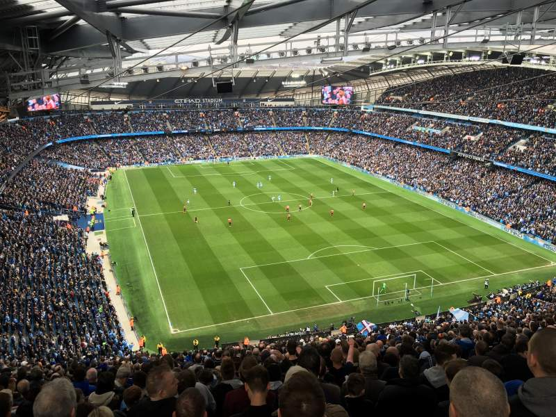 Seating view for Etihad Stadium (Manchester) Section 318 Row GG Seat 494