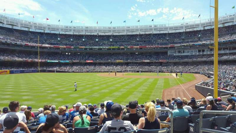 Seating view for Yankee Stadium Section 133 Row 12 Seat 4