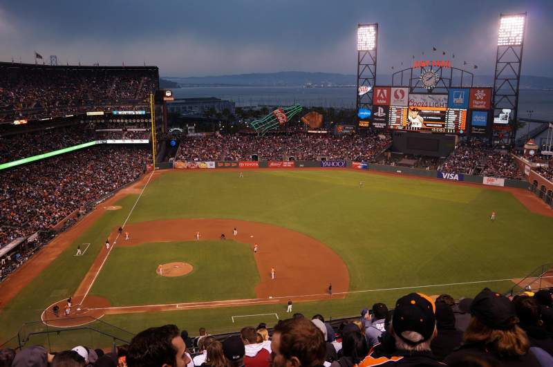 Seating view for AT&T Park Section 308 Row 10 Seat 20