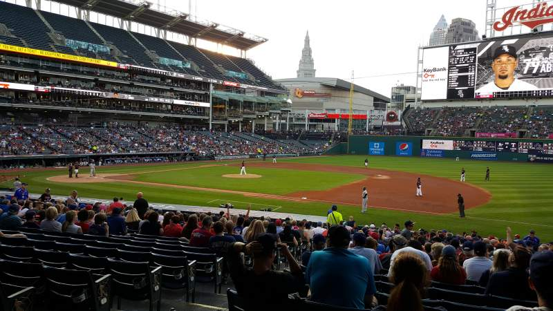 Seating view for Progressive Field Section 138 Row CC Seat 7-8