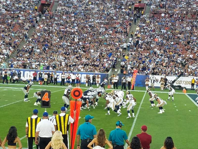 Seating view for Los Angeles Memorial Coliseum Section 5H Row 10 Seat 111