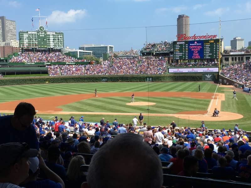 Seating view for Wrigley Field Section 216 Row 6 Seat 7