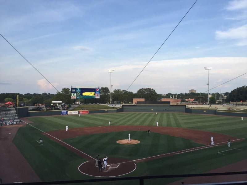 Seating view for Spirit Communications Park Section 203 Row B Seat 2