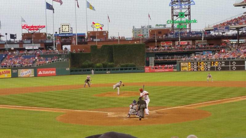 Seating view for Citizens Bank Park Section d Row 16 Seat 10