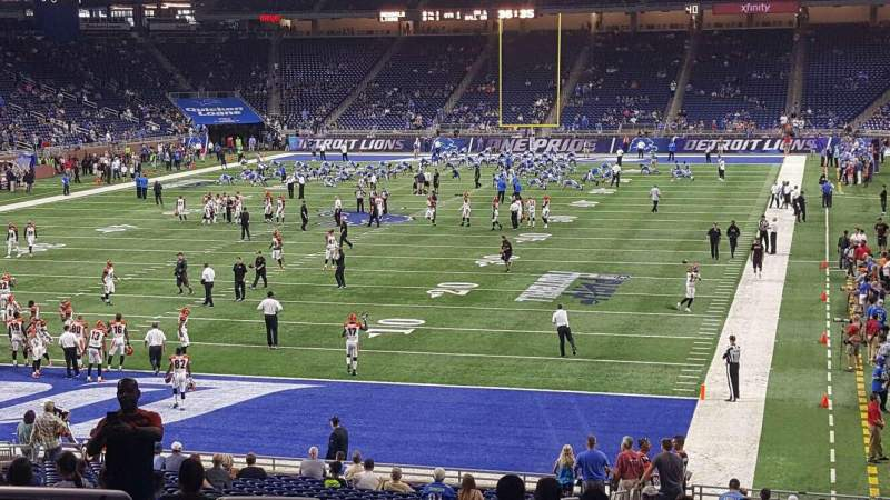 Ford Field, section: 119, row: 32, seat: 5