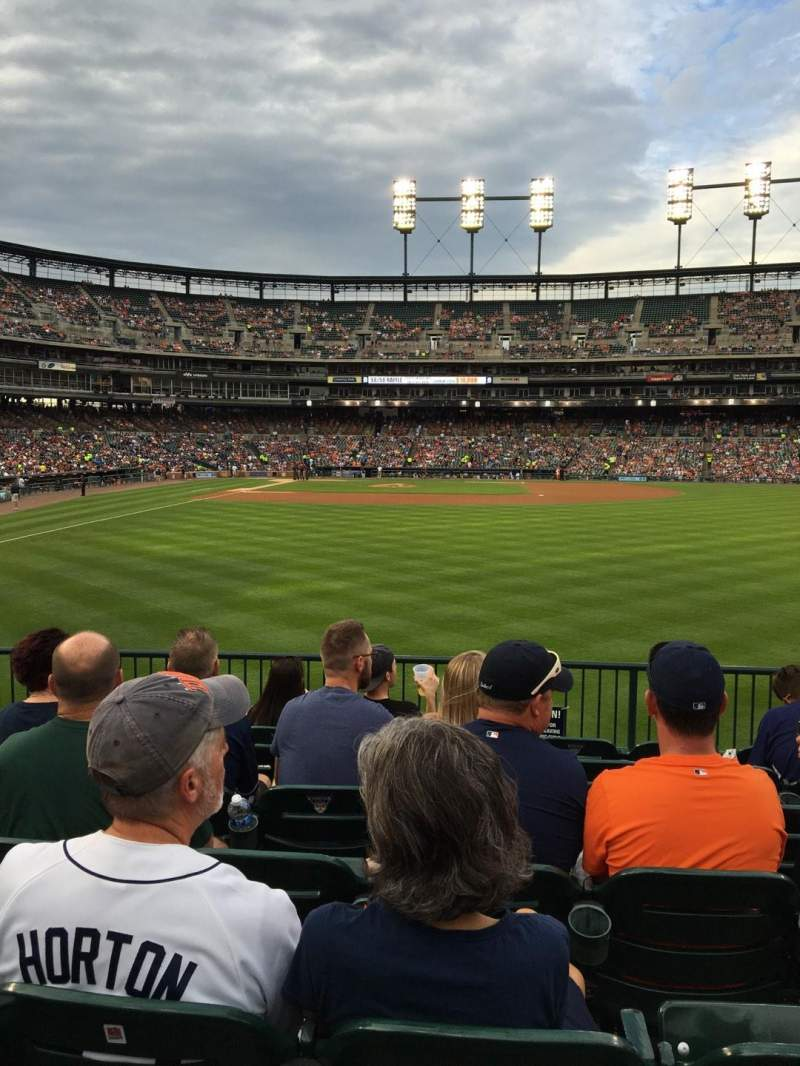 Seating view for Comerica Park Section 105 Row G Seat 12