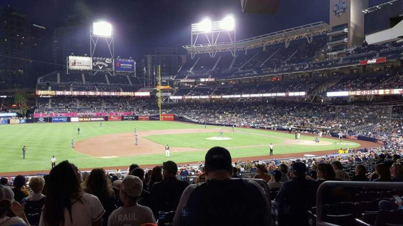 Seating view for PETCO Park Section 114 Row 39 Seat 1