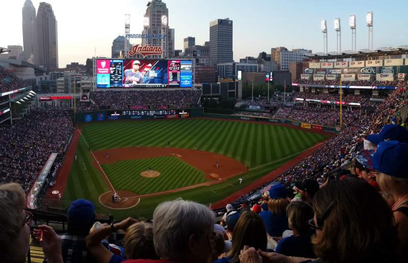 Seating view for Progressive Field Section 551 Row N Seat 17