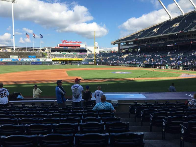Seating view for Kauffman Stadium Section 119 Row K Seat 9