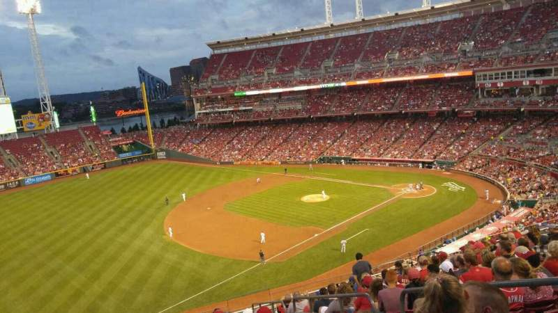Seating view for Great American Ball Park Section 413 Row m Seat 4
