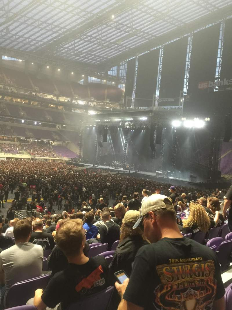 Seating view for U.S. Bank Stadium Section V4 Row 20 Seat 16