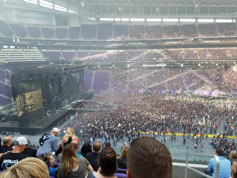 Seating view for U.S. Bank Stadium Section C9 Row 6 Seat 1