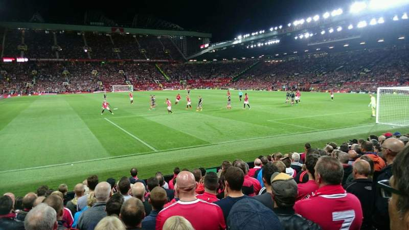 Seating view for Old Trafford Section W102 Row MM Seat 159