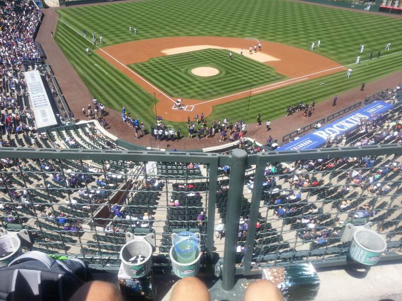 Seating view for Coors Field Section L329 Row 1 Seat 8