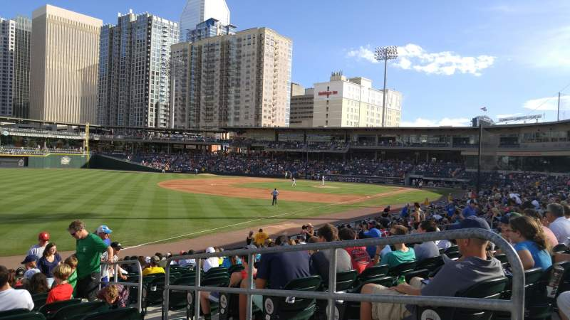 Seating view for BB&T Ballpark (Charlotte) Section 121 Row U Seat 3