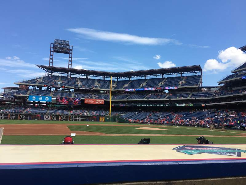 Seating view for Citizens Bank Park Section 131 Row 3 Seat 15