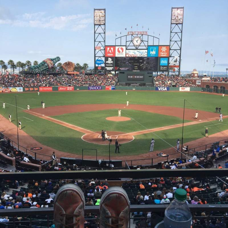 Seating view for AT&T Park Section 215 Row A Seat 2