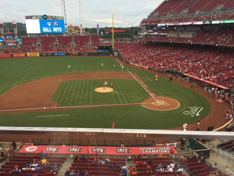 Seating view for Great American Ball Park Section 418 Row A Seat 10