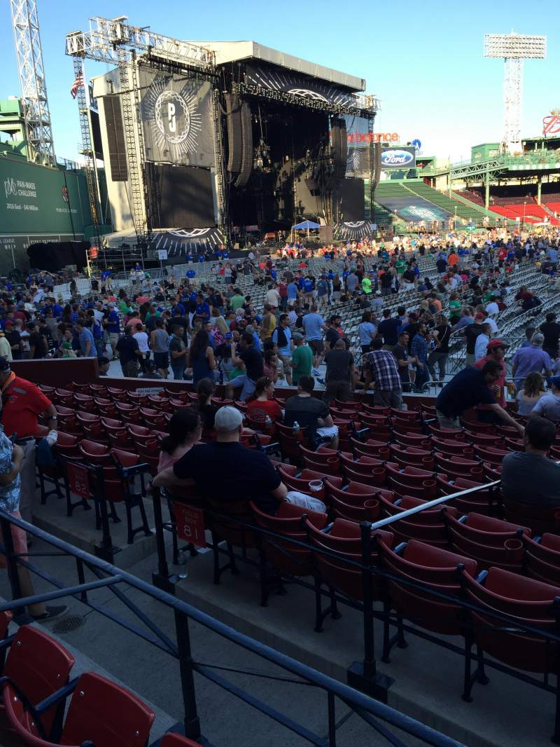 Seating view for Fenway Park Section Loge Box 161 Row DD Seat 10