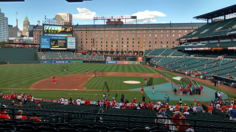 Seating view for Oriole Park at Camden Yards Section 49 Row 7 Seat 7